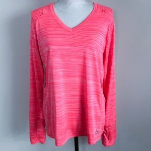 RBX XL Athletic Long Sleeve Shirt Space Dye Pink